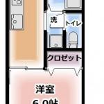 ※105号室は反転となります(間取)