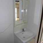 縦型洗面台・洗濯機置き場(洗面所)